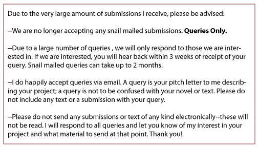Query and Submission Policy of the Chudney Agency